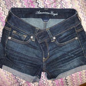 American Eagle Jean Shorts, Dark Blue